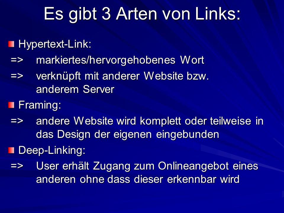 Es gibt 3 Arten von Links: