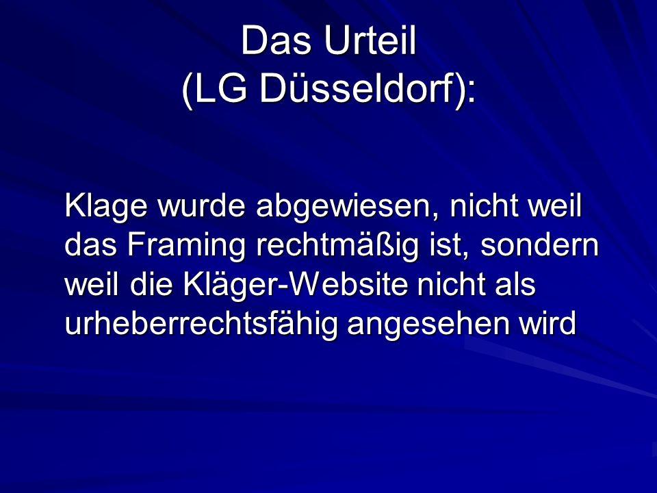 Das Urteil (LG Düsseldorf):