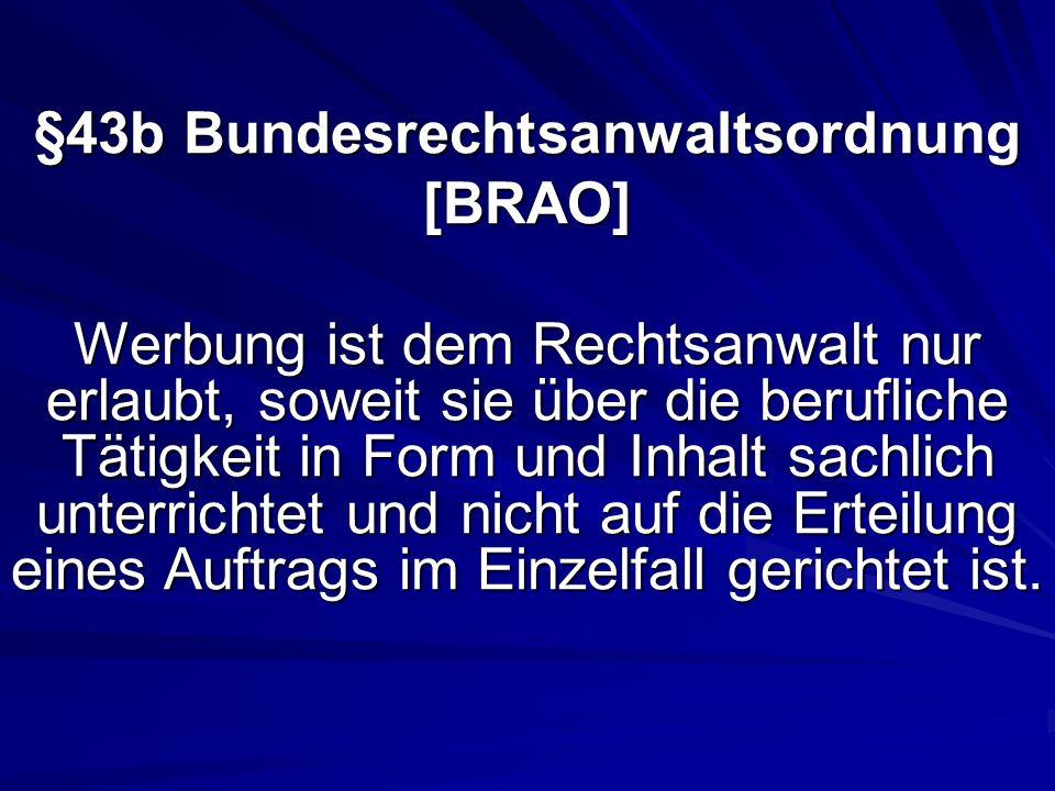 §43b Bundesrechtsanwaltsordnung