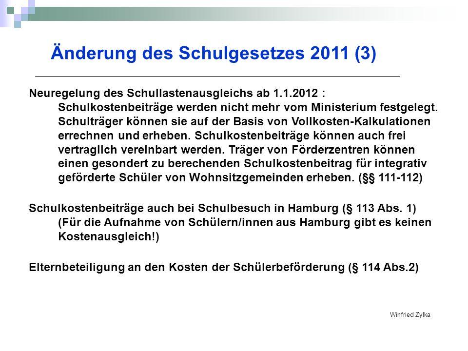 Änderung des Schulgesetzes 2011 (3)
