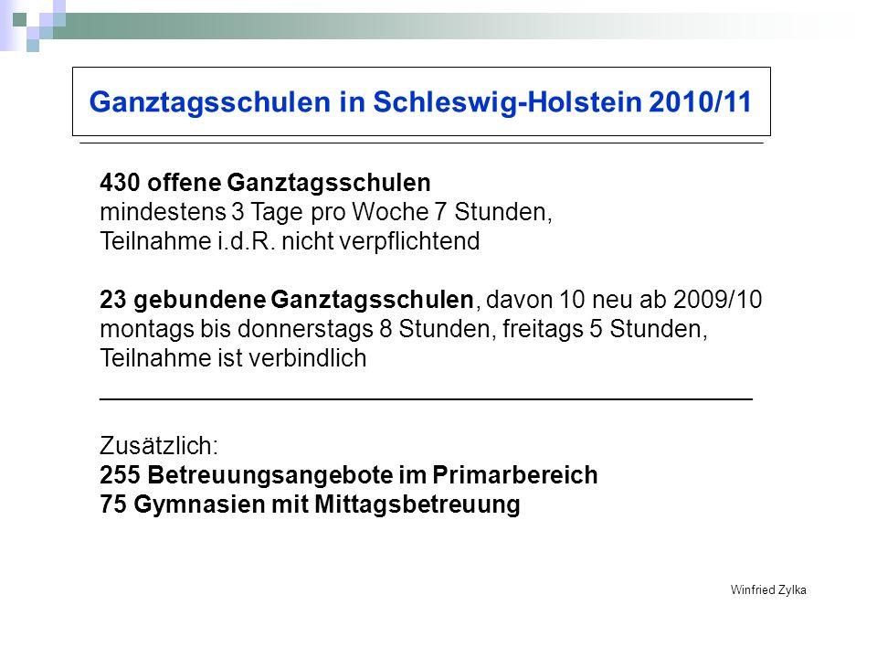 Ganztagsschulen in Schleswig-Holstein 2010/11