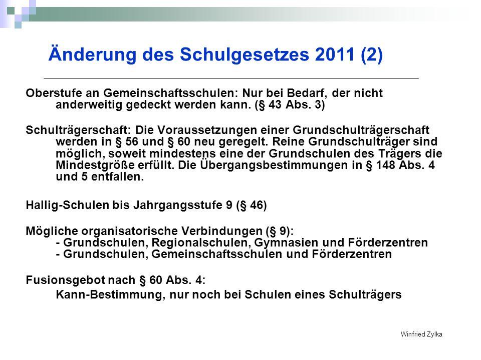 Änderung des Schulgesetzes 2011 (2)