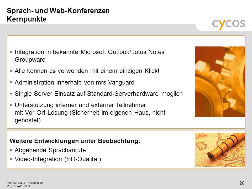 Sprach- und Web-Konferenzen Kernpunkte