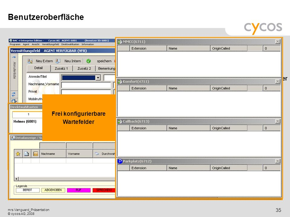 """Vermittlungsfeld von Service-Mitarbeiter """"Helmes"""