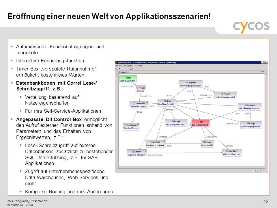 Eröffnung einer neuen Welt von Applikationsszenarien!