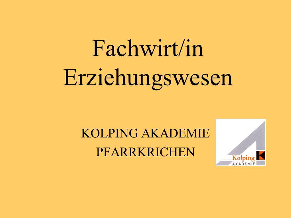 Fachwirt/in Erziehungswesen