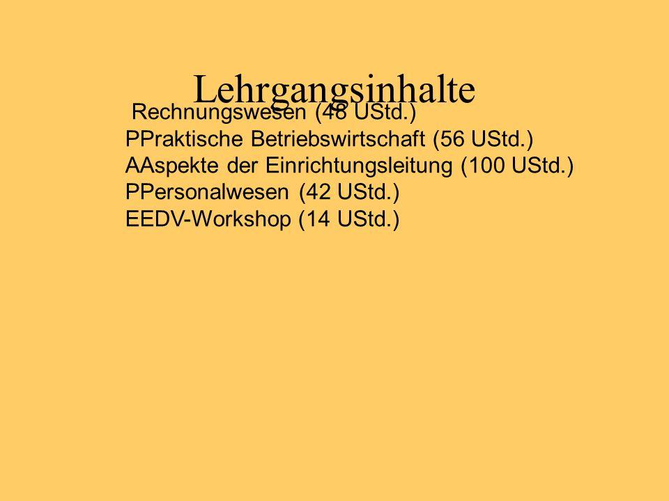 Lehrgangsinhalte Rechnungswesen (48 UStd.)