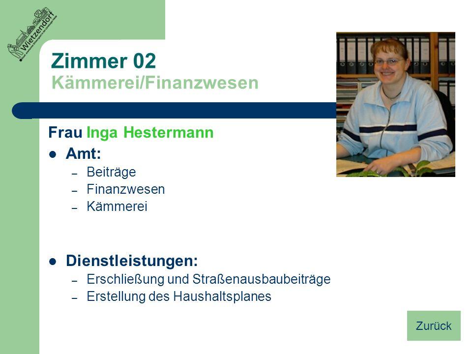 Zimmer 02 Kämmerei/Finanzwesen