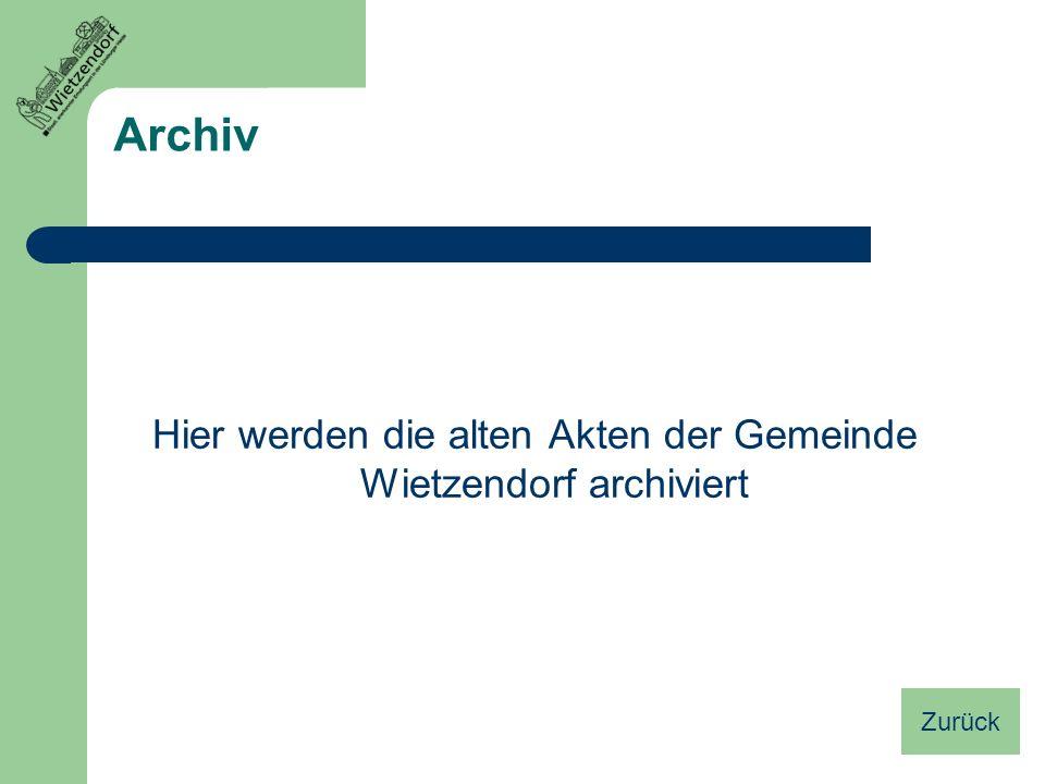 Hier werden die alten Akten der Gemeinde Wietzendorf archiviert