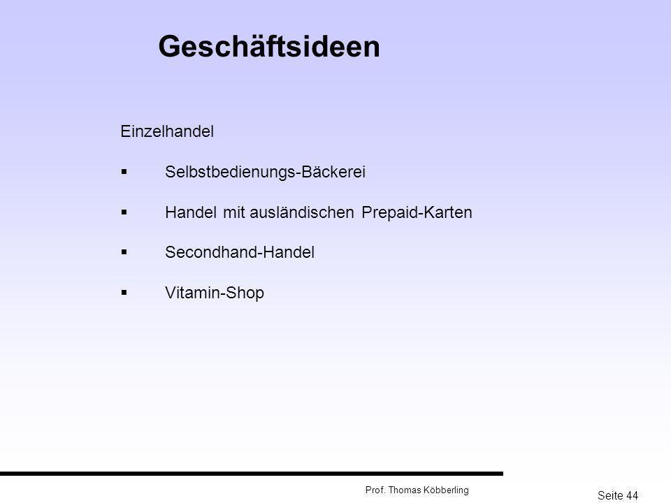 Geschäftsideen Einzelhandel Selbstbedienungs-Bäckerei