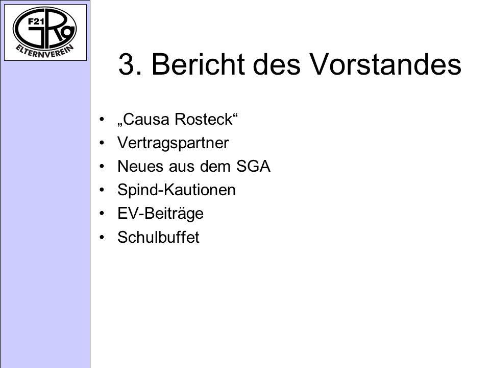 3. Bericht des Vorstandes