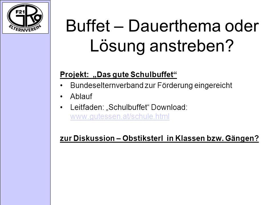 Buffet – Dauerthema oder Lösung anstreben