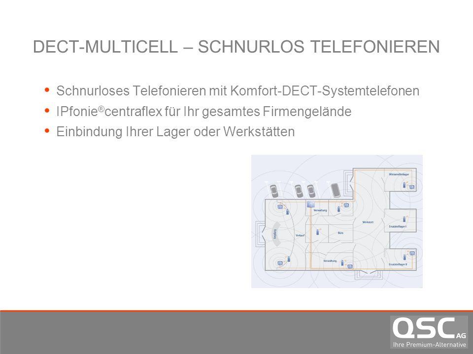 DECT-MULTICELL – SCHNURLOS TELEFONIEREN