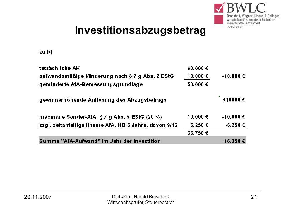 Investitionsabzugsbetrag
