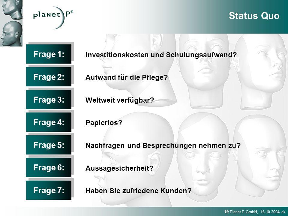 Status Quo Frage 1: Frage 2: Frage 3: Frage 4: Frage 5: Frage 6: