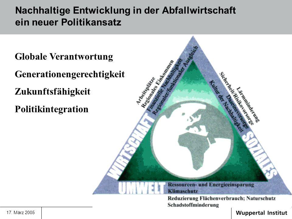 Globale Verantwortung Generationengerechtigkeit Zukunftsfähigkeit