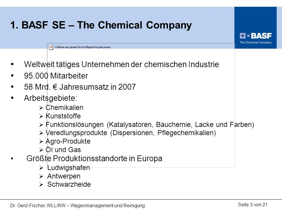 1. BASF SE – The Chemical Company