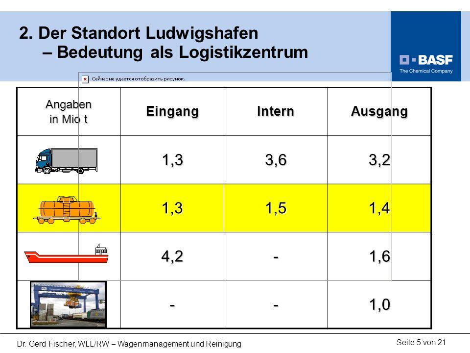 2. Der Standort Ludwigshafen – Bedeutung als Logistikzentrum
