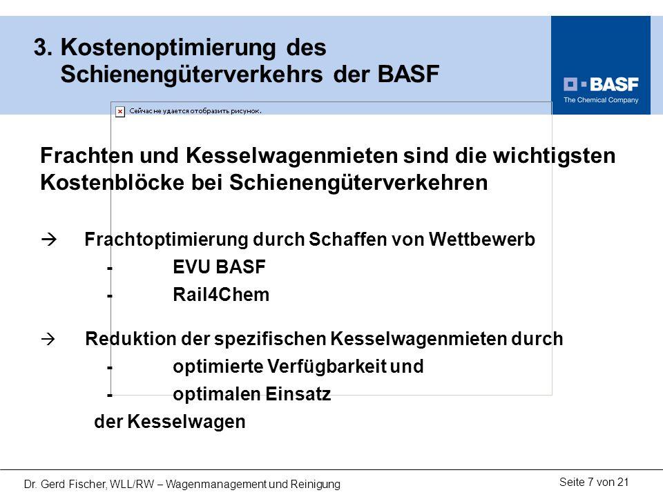3. Kostenoptimierung des Schienengüterverkehrs der BASF
