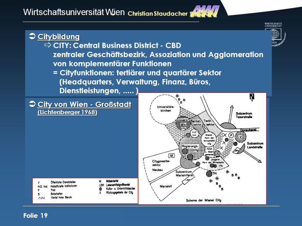 AWIR. Christian Staudacher. Citybildung.