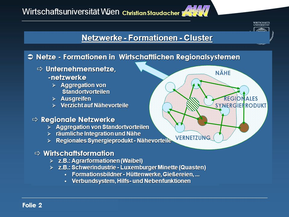 Netzwerke - Formationen - Cluster