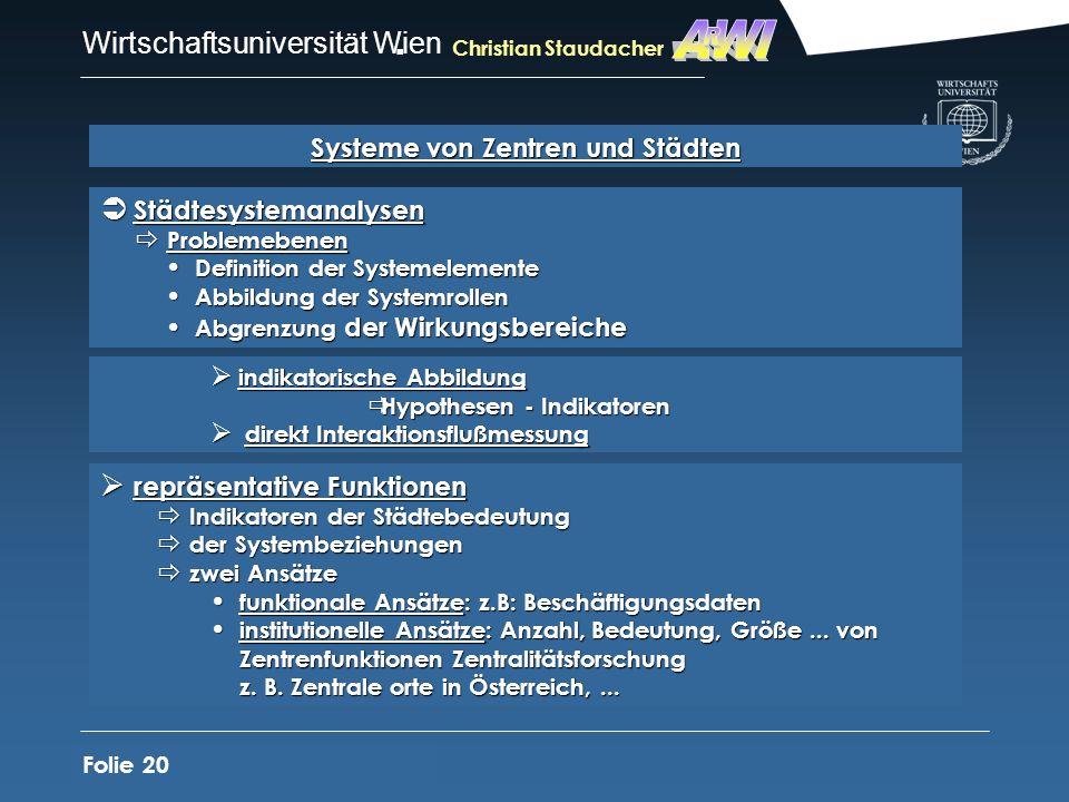 Systeme von Zentren und Städten