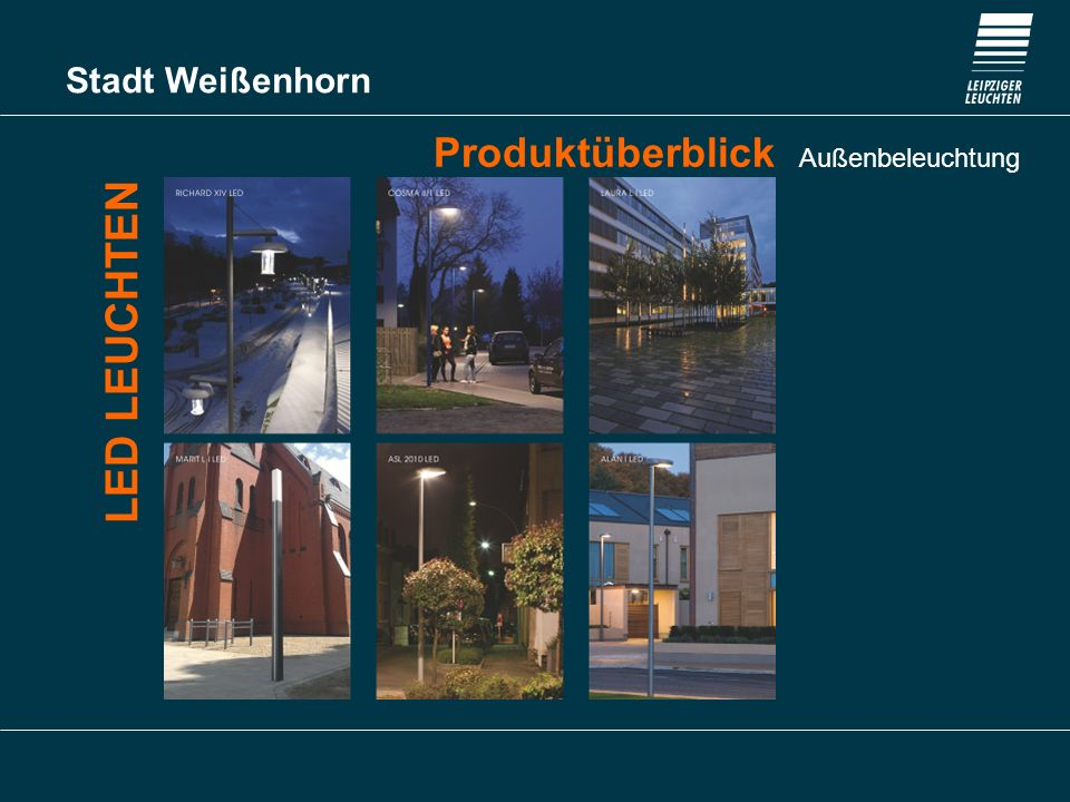 Produktüberblick Außenbeleuchtung