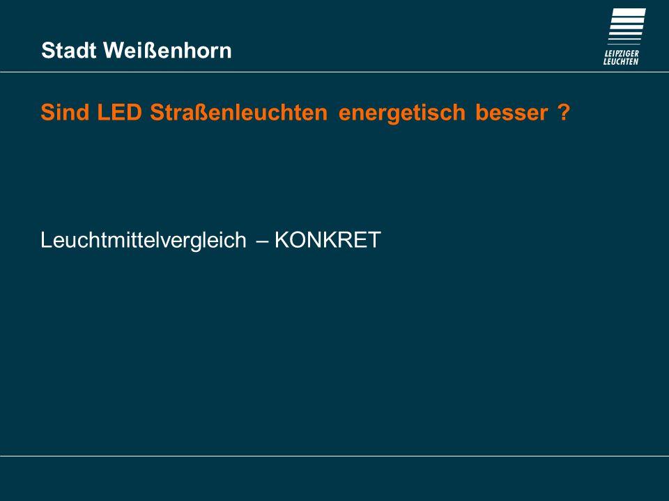 Sind LED Straßenleuchten energetisch besser