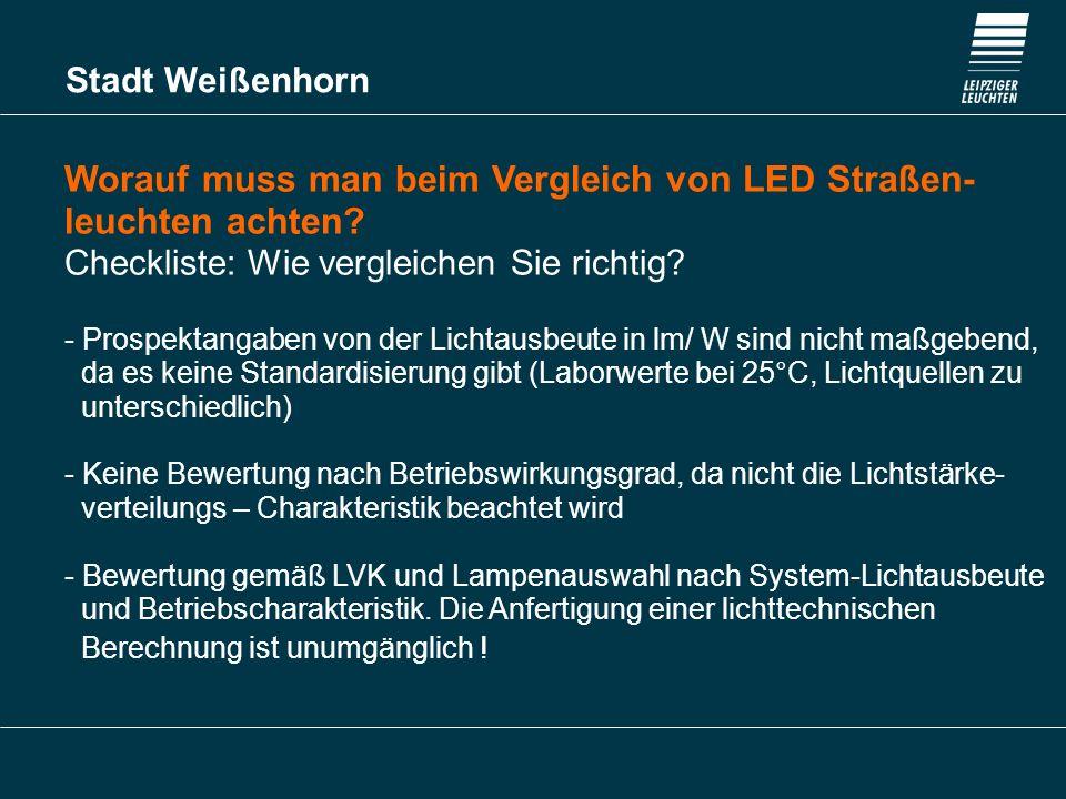 Worauf muss man beim Vergleich von LED Straßen- leuchten achten