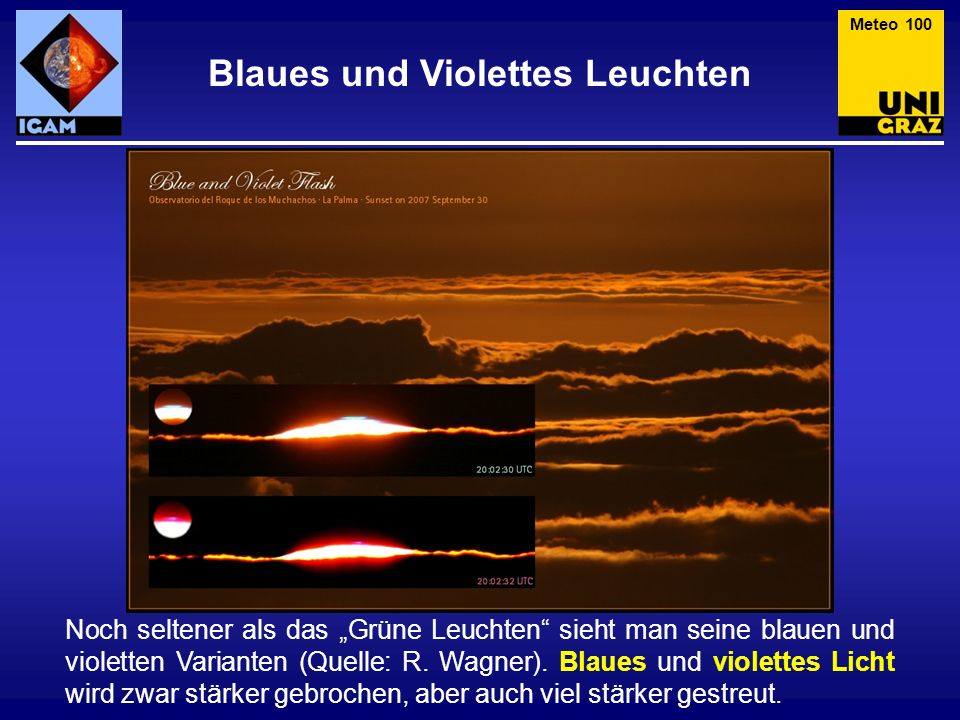 Blaues und Violettes Leuchten