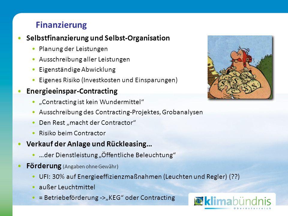 Finanzierung Selbstfinanzierung und Selbst-Organisation