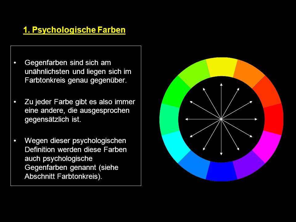 1. Psychologische Farben