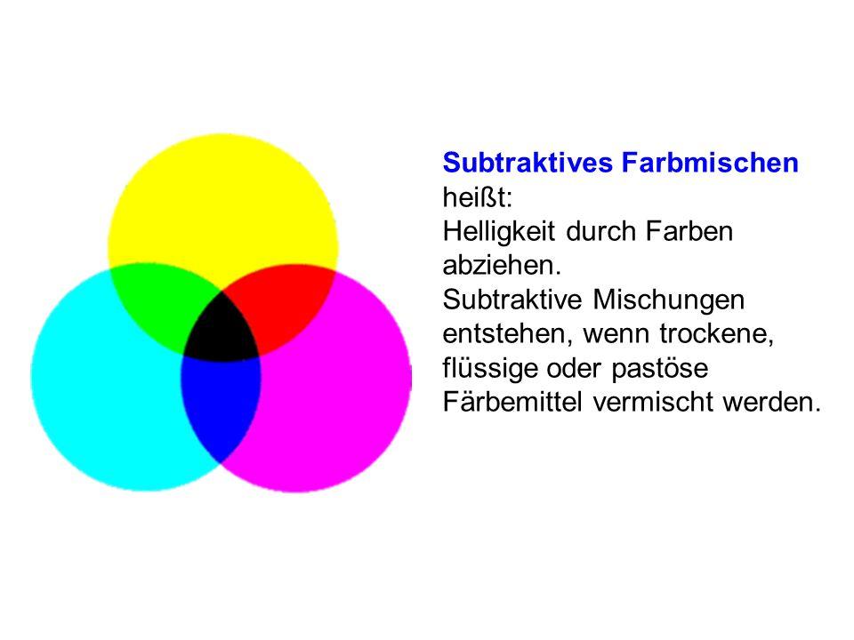 Subtraktives Farbmischen