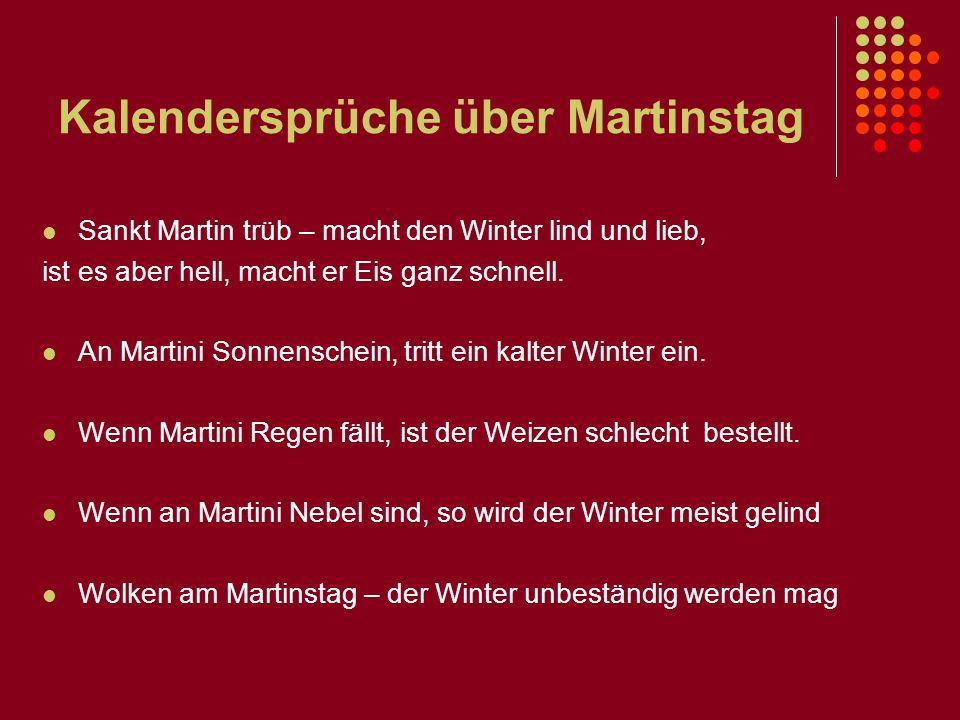 Kalendersprüche über Martinstag