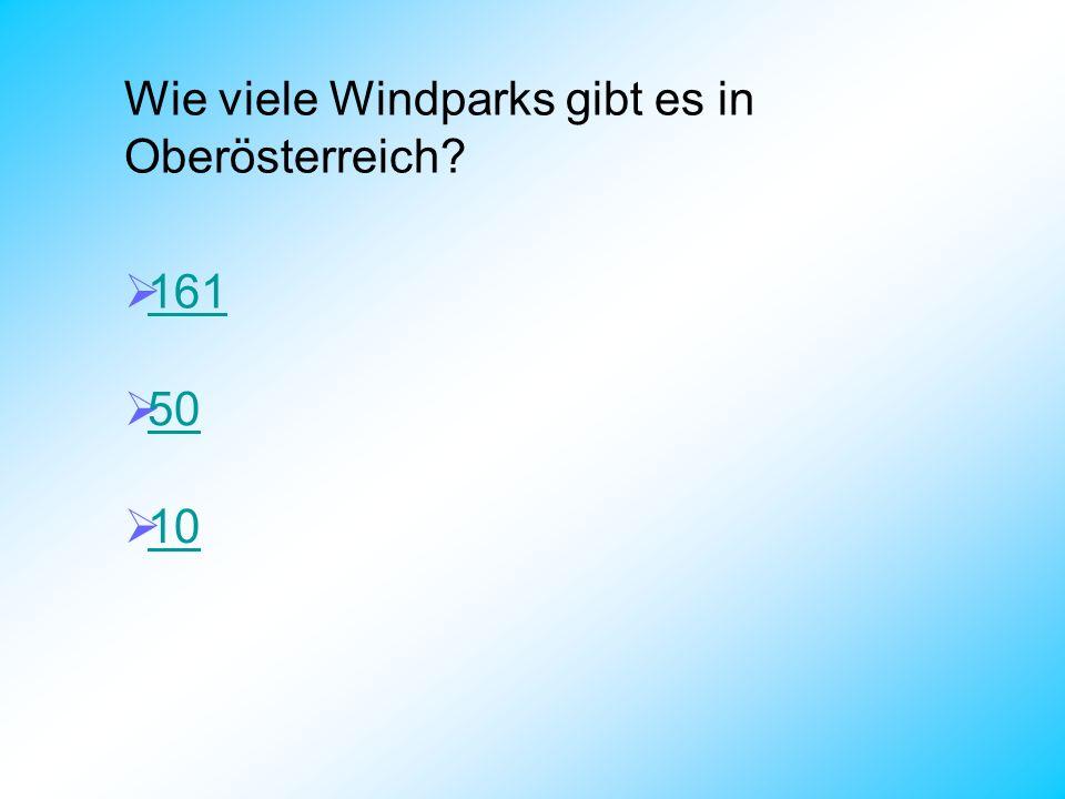 Wie viele Windparks gibt es in Oberösterreich