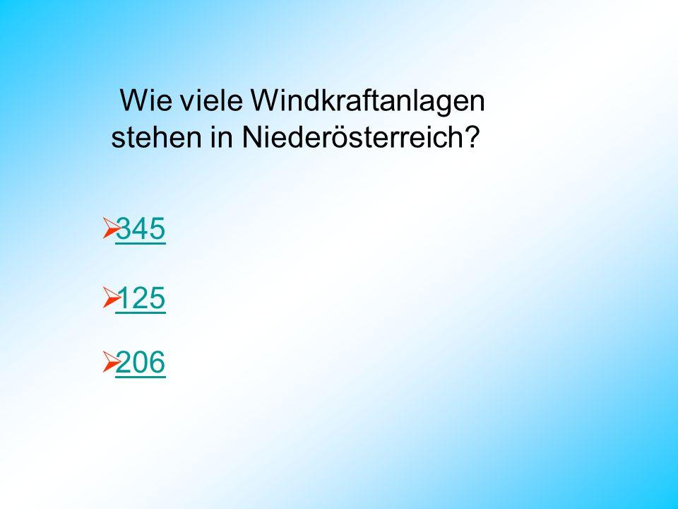 Wie viele Windkraftanlagen stehen in Niederösterreich
