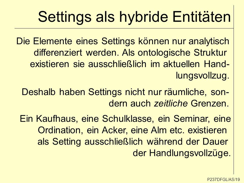 Settings als hybride Entitäten
