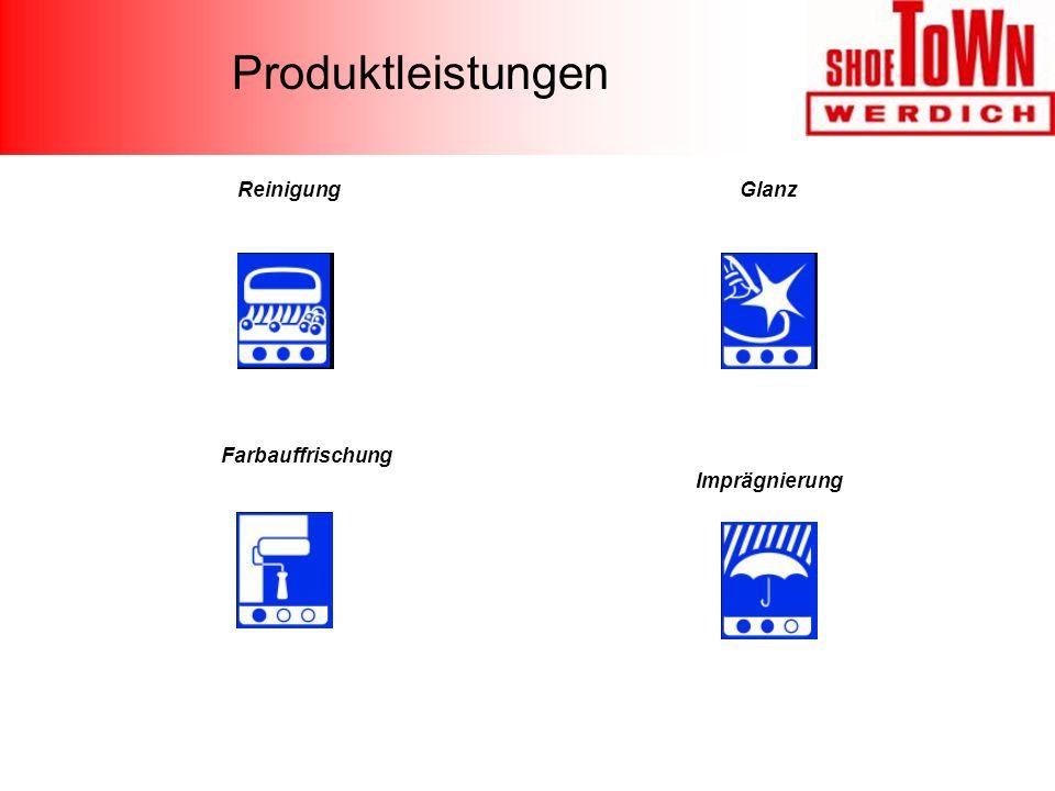 Produktleistungen Reinigung Glanz Farbauffrischung Imprägnierung