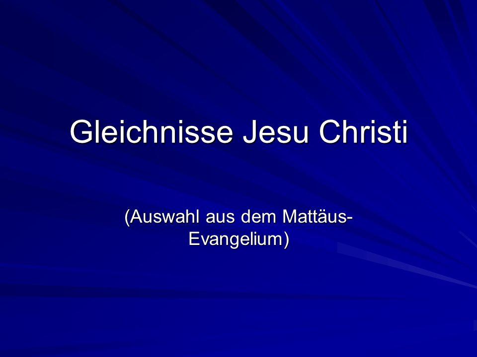Gleichnisse Jesu Christi