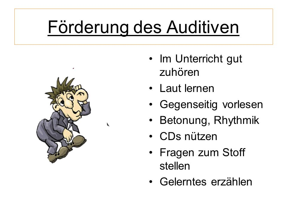 Förderung des Auditiven
