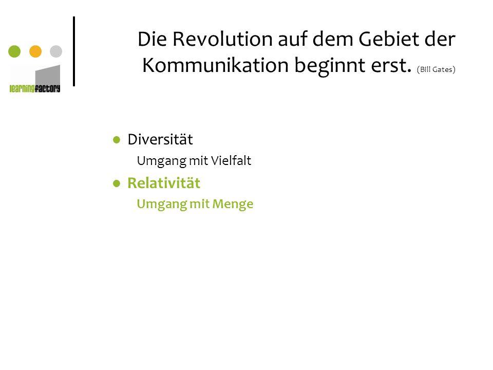 Die Revolution auf dem Gebiet der Kommunikation beginnt erst