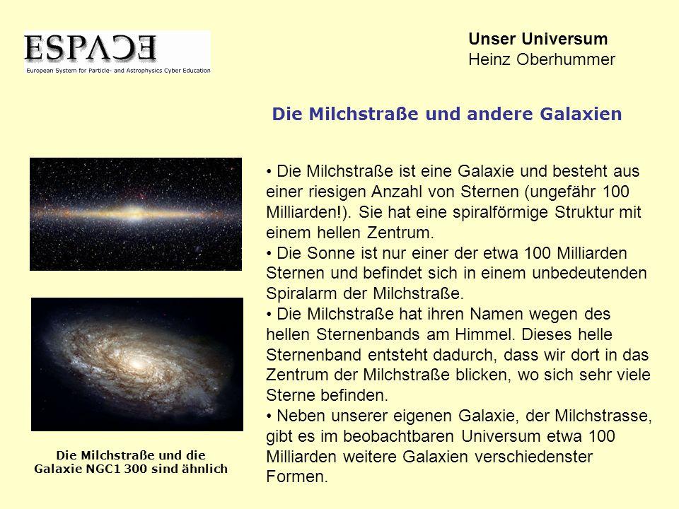 Die Milchstraße und die Galaxie NGC1 300 sind ähnlich