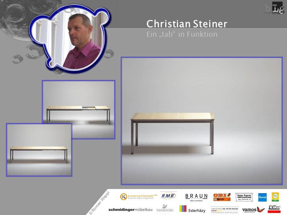 """Christian Steiner Ein """"tab in Funktion"""