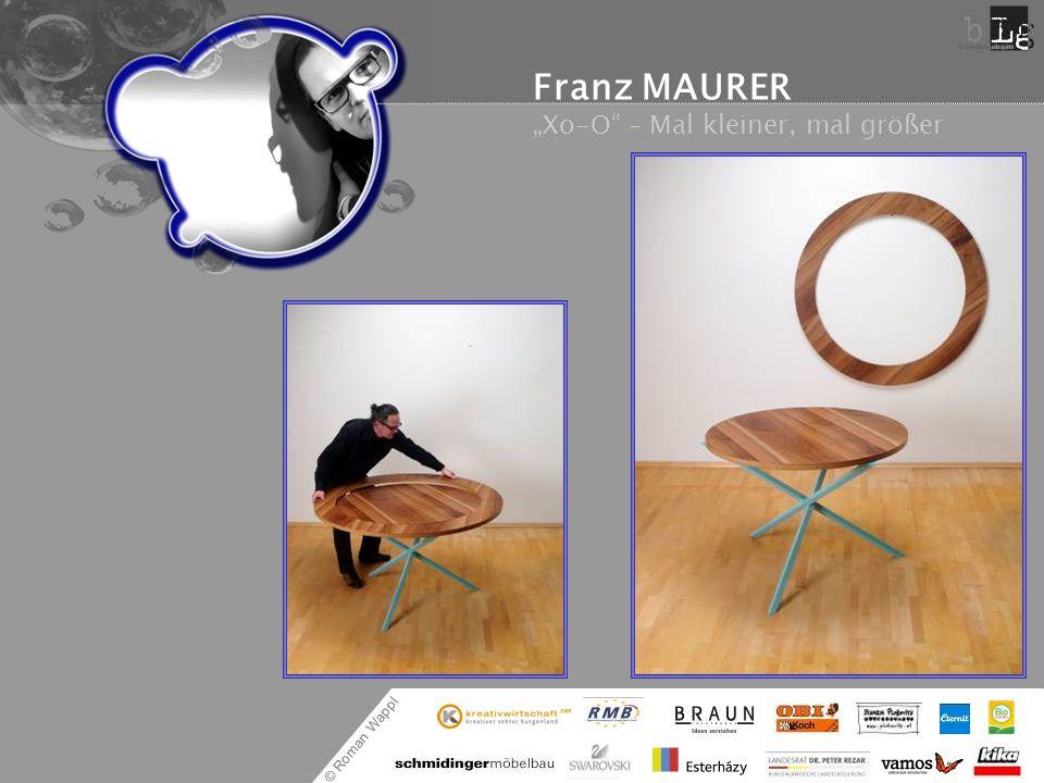 """Franz MAURER """"Xo-O – Mal kleiner, mal größer"""