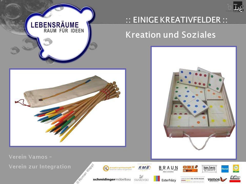 Kreation und Soziales :: EINIGE KREATIVFELDER :: Verein Vamos –