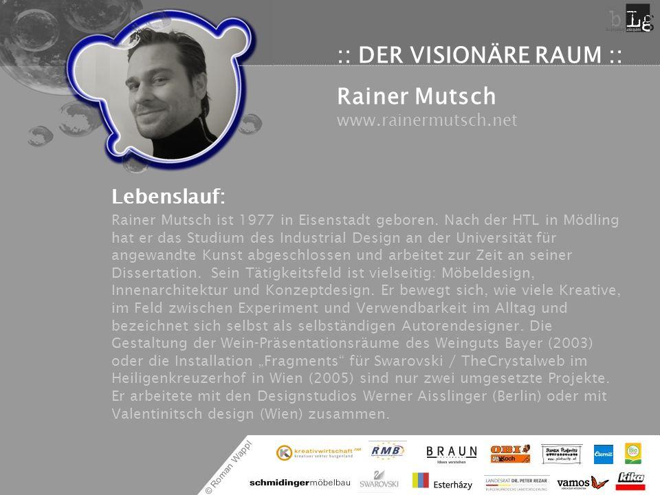 :: DER VISIONÄRE RAUM :: Rainer Mutsch www.rainermutsch.net