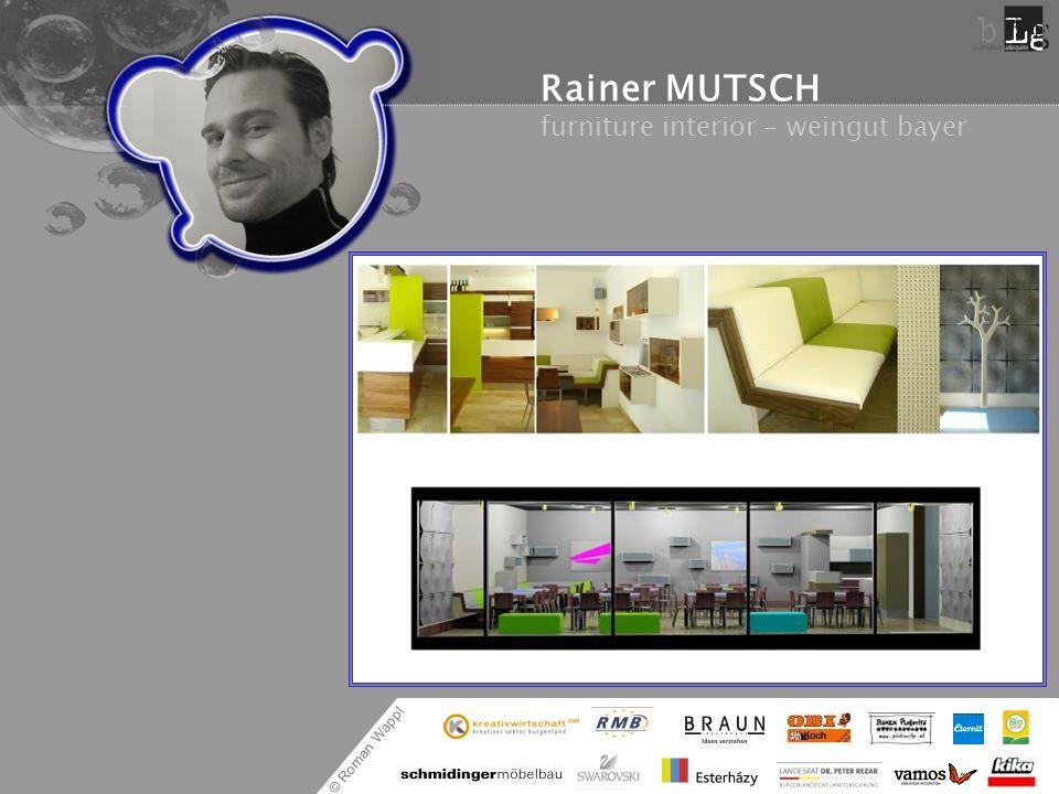 Rainer MUTSCH furniture interior – weingut bayer