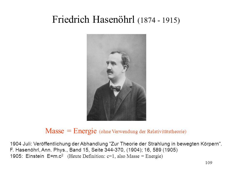 Friedrich Hasenöhrl (1874 - 1915)