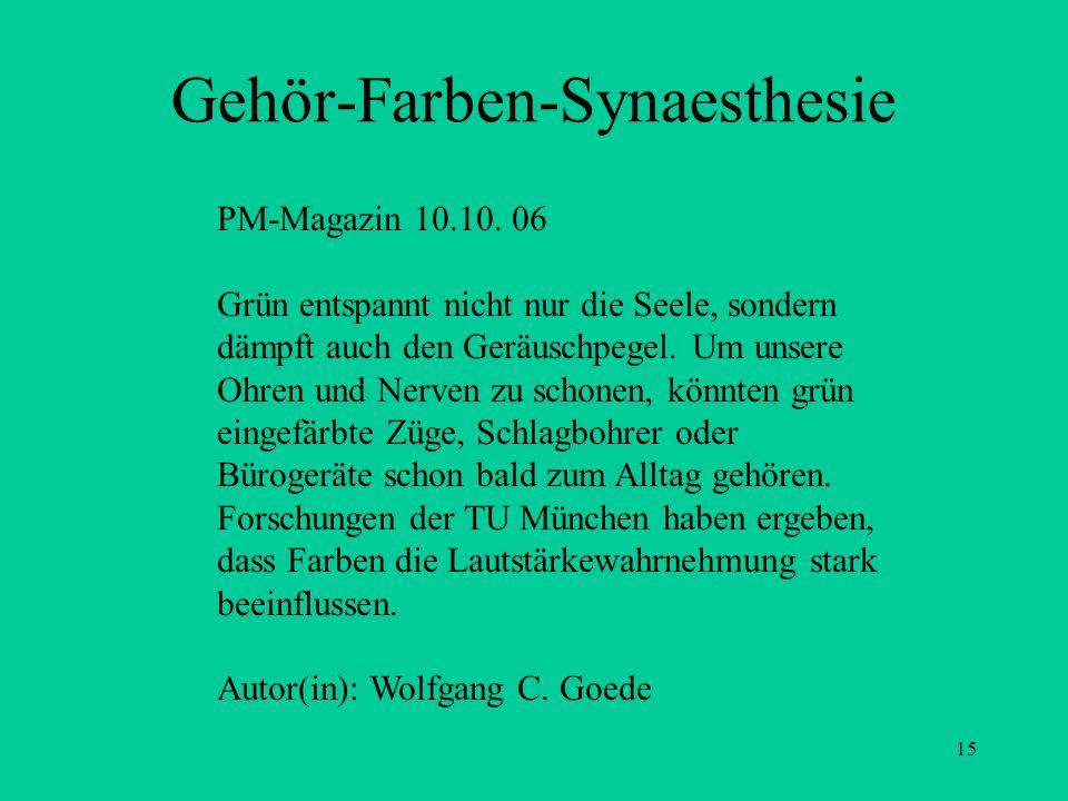 Gehör-Farben-Synaesthesie