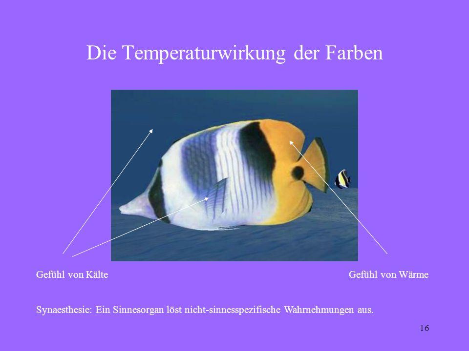 Die Temperaturwirkung der Farben